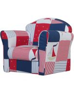 Kidsaw Mini Armchair Blue Patchwork - Right Side