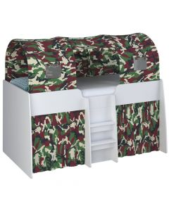 Kidsaw Tent 3 Parts Camouflage - Left Side