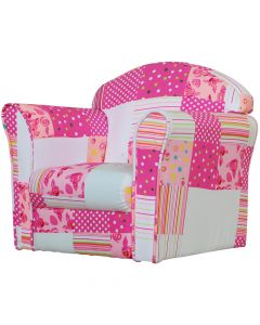 Kidsaw Mini Armchair Pink Patchwork - Right Side