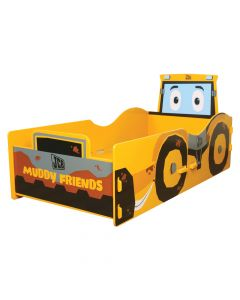 Kidsaw JCB Muddy Friends Junior Toddler Bed - Right Side