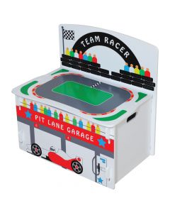 Kidsaw Playbox F1 Racer Toy Box - Top View