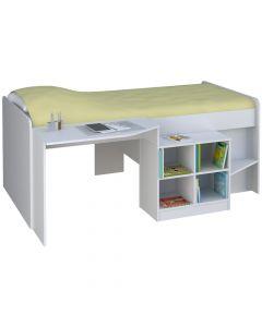 Kidsaw Pilot Single 3ft Cabin Bed White - Left Side