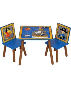 Kidsaw Pirate Table and Chairs - Top View