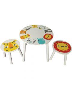 Kidsaw Safari Table and 2 Stools - Top View