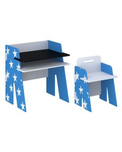 Kidsaw Star Desk & Chair Blue - Front