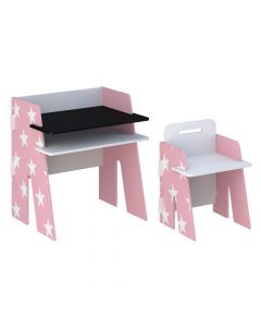 Kidsaw Star Desk & Chair Pink - Front