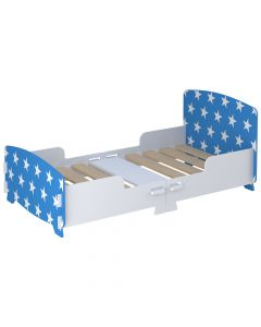 Kidsaw Star Junior Toddler Bed Blue - Right Side