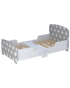 Kidsaw Star Junior Toddler Bed Grey - Right Side
