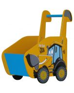 Kidsaw JCB Push Along Toy Box - Right Side