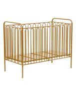 Kudl Kids, Vintage Metal Baby Cot 150 - Gold