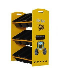 Kidsaw JCB 9 Bin Storage Unit - Right Side