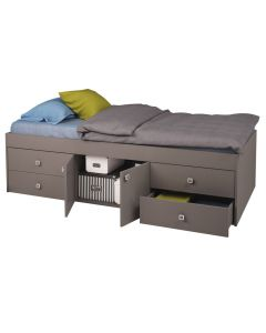 Kidsaw, Captains Single 3ft Cabin Bed Grey - Cut Out