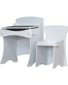 Kidsaw White Desk and Chair - Right Side
