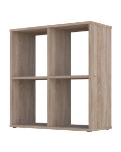 Kudl Home, Smart 4 Cubic Section Shelving Unit - Oak