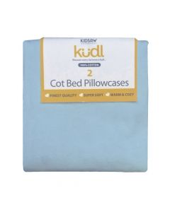 Kudl Kids, 2 x Cotton Pillowcases - Blue