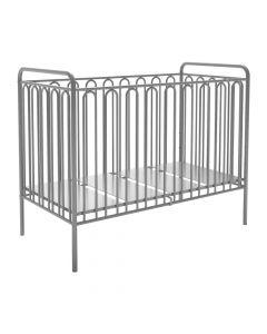 Kudl Kids, Vintage Metal Baby Cot 150 - Silver