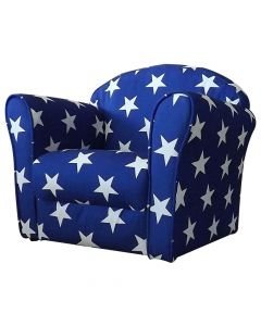Kidsaw Mini Armchair Blue White Stars - Right Side