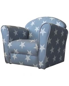 Kidsaw Mini Armchair Grey White Stars - Right Side
