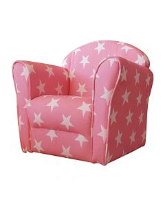 Kidsaw Mini Armchair Pink White Stars - Right Side