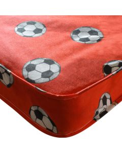 Kidsaw Football Single 3ft Mattress Red - Material View
