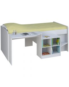 Kidsaw Pilot Single 3ft Cabin Bed White - Left Side