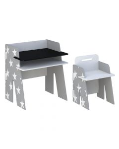 Kidsaw Star Desk & Chair Grey - Front
