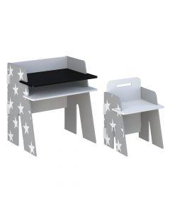 Kidsaw Star Desk & Chair Grey - Front